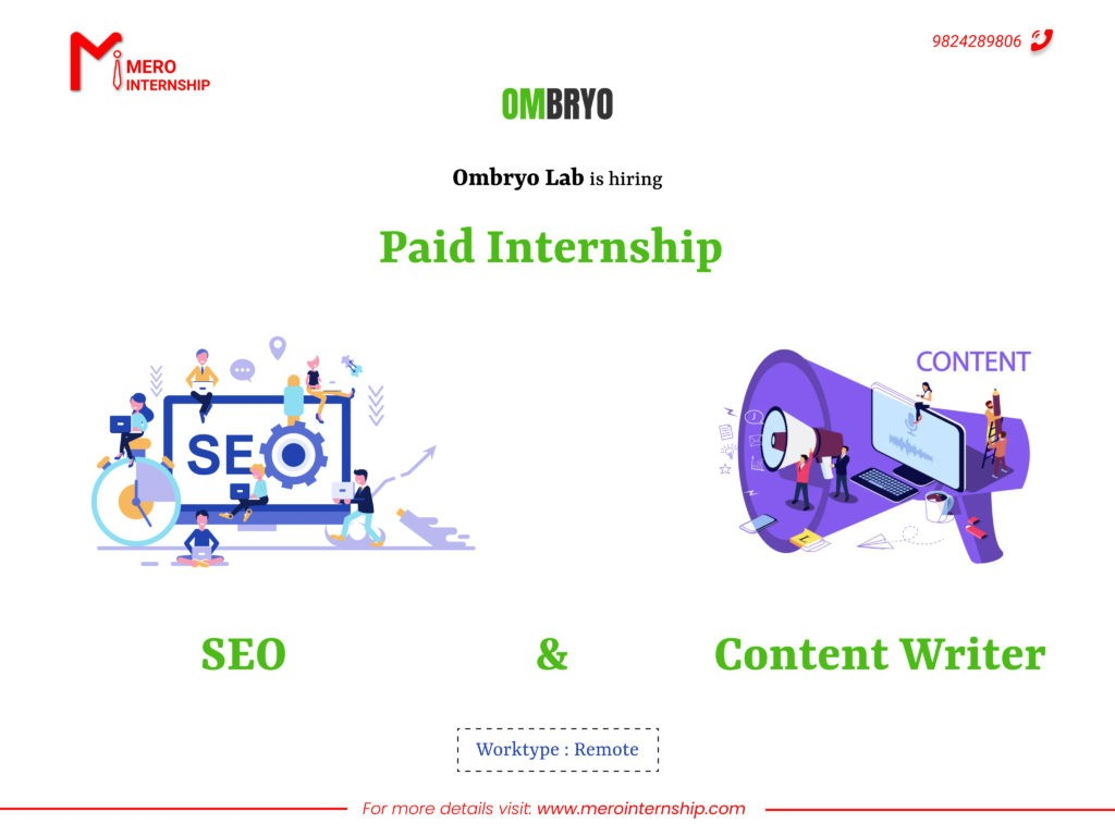 Content writer and Seo Internship in Nepal